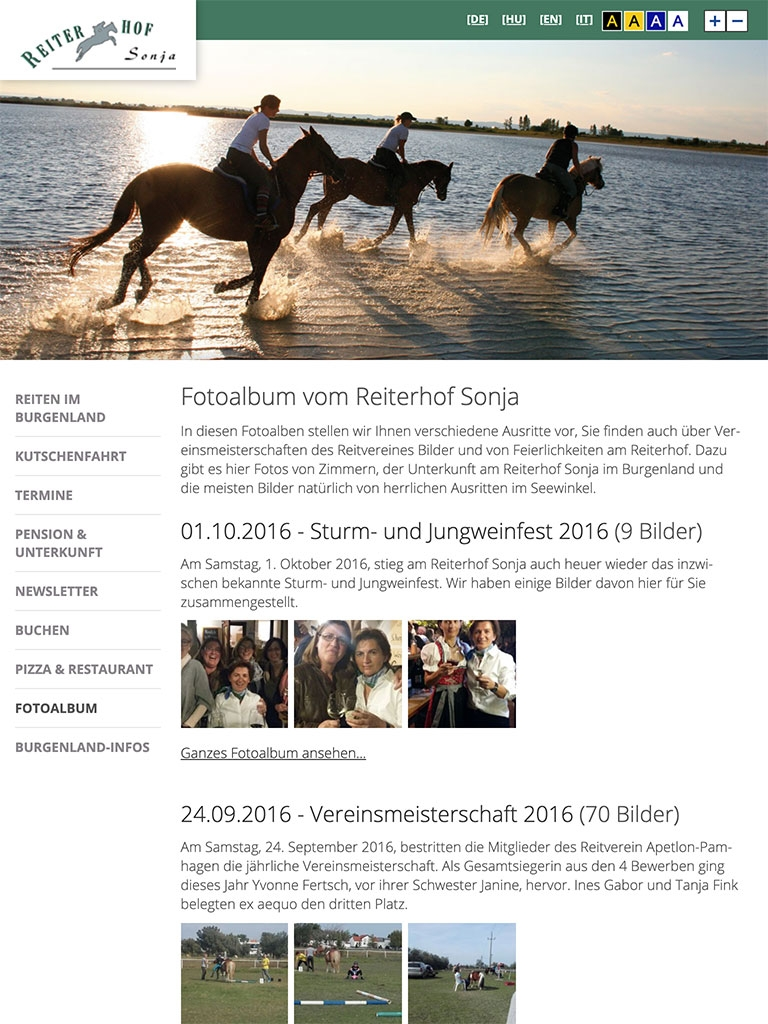 Reiterhof Sonja | reiterhof-sonja.at | 2016 (Tablet Only 04) © echonet communication