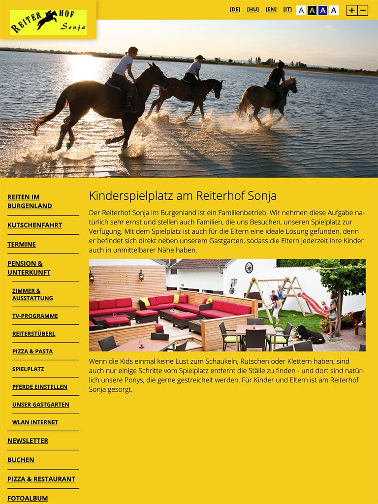 Reiterhof Sonja | reiterhof-sonja.at | 2016 (Tablet Only 05) © echonet communication