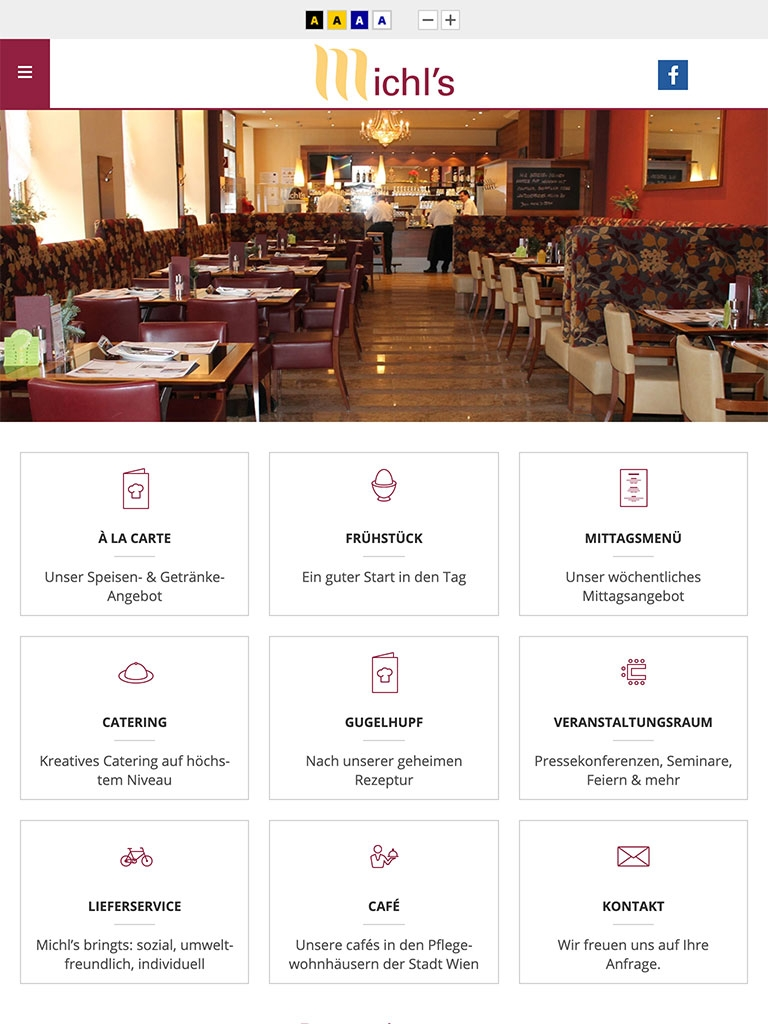 Michls Restaurant | michls.at | 2016 (Tablet Only 04) © echonet communication